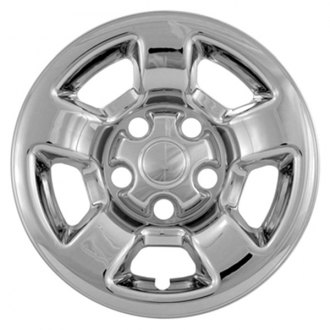 "CCI® - 16"" 5 Flat Spokes Triple Chrome Plated Impostor Wheel Skin Set"