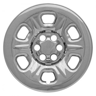 "CCI® - 16"" 6 Raised Dimpled Spokes Triple Chrome Plated Impostor Wheel Skins"