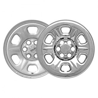 "CCI® - 15"" 6 Raised Dimple Spokes Triple Chrome Plated Impostor Wheel Skin Set"