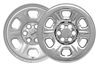 "CCI® - 15"" 6 Raised Dimple Spokes Triple Chrome Plated Impostor Wheel Skins"