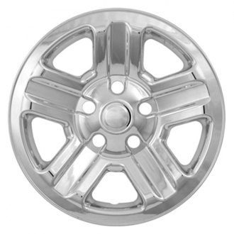 "CCI® - 16"" 5 Indented Spokes Triple Chrome Plated Impostor Wheel Skin Set"