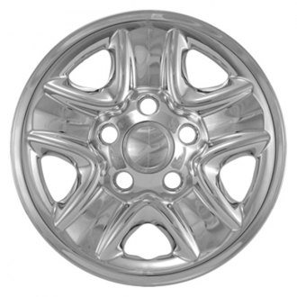 "CCI® - 18"" 5 Indented Spokes Triple Chrome Plated Impostor Wheel Skin Set"