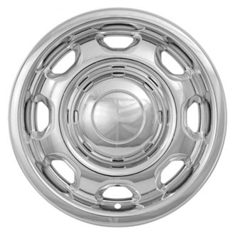 "CCI® - 17"" 8 Rounded Holes Chrome Impostor Wheel Skin Set"