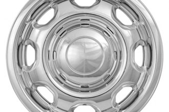 "CCI® - 17"" 8 Rounded Holes Chrome Impostor Wheel Skins"