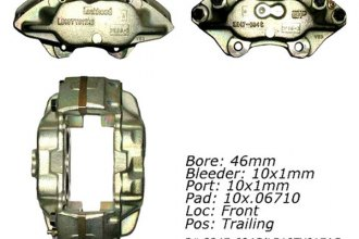 Centric® 141.22009 - Front Passenger Side Remanufactured Semi Loaded Brake Caliper