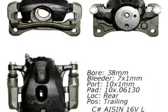 Centric® 141.44561 - Rear Right Remanufactured Semi Loaded Brake Caliper