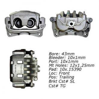Centric® - Front Left Semi Loaded Brake Caliper