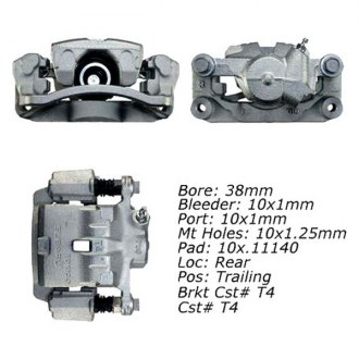 Centric® - Rear Right Semi Loaded Brake Caliper