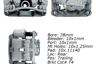 Centric® 141.47529 - Rear Right Remanufactured Semi Loaded Brake Caliper