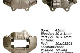 Centric® 142.22016 - Posi Quiet™ Front Left Remanufactured Loaded Brake Caliper