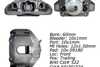 Centric® 142.34072 - Posi Quiet™ Front Driver Side Remanufactured Loaded Brake Caliper