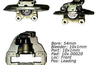 Centric® 142.38004 - Posi Quiet™ Front Driver Side Remanufactured Loaded Brake Caliper