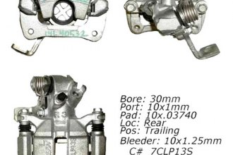 Centric® 142.40532 - Posi Quiet™ Rear Left Remanufactured Loaded Brake Caliper