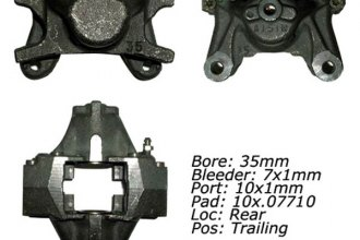 Centric® 142.44575 - Posi Quiet™ Rear Passenger Side Remanufactured Loaded Brake Caliper