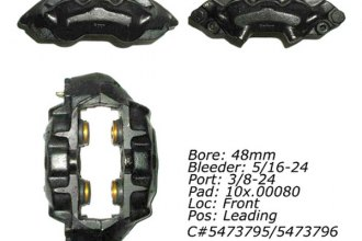 Centric® 142.62026 - Posi Quiet™ Front Left Remanufactured Loaded Brake Caliper