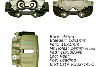 Centric® 142.66506 - Posi Quiet™ Rear Driver Side Remanufactured Loaded Brake Caliper