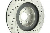 Centric® - C-Tek™ Drilled and Slotted Front Driver Side Rotor