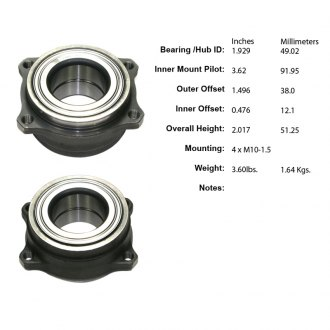 Centric® - Premium™ Rear Wheel Bearing Module