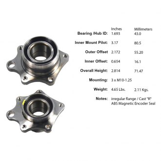 Centric® - Wheel Bearing and Hub Assembly