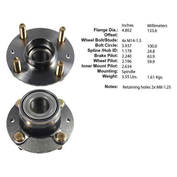 2000 Kia Spectra Suspension: Kia Spectra 2000 Premium™ Rear Wheel Bearing