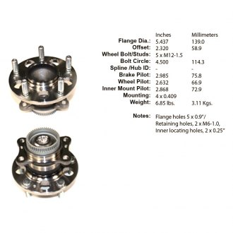Centric® - Premium™ Rear Wheel Bearing and Hub Assembly