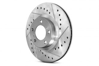 Centric® 227.44156L - C-Tek™ Drilled and Slotted Front Driver Side Rotor