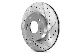 Centric® 227.67043R - C-Tek™ Sport Drilled and Slotted Rear Passenger Side Brake Rotor
