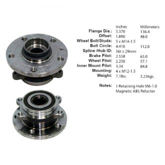 Centric® - C-Tek™ Wheel Bearing and Hub Assembly