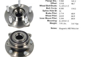 Centric® - Premium Front Wheel Bearing and Hub Assembly