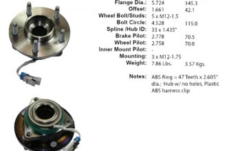 Centric® 402.62002E - Driven Front Axle Bearing and Hub Assembly