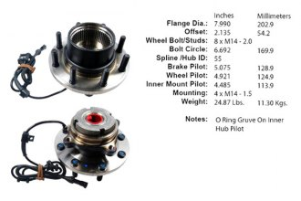 Centric® 402.65017E - Driven Front Axle Bearing and Hub Assembly