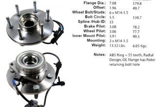 Centric® 402.66000E - C-Tek™ Driven Front Axle Bearing and Hub Assembly