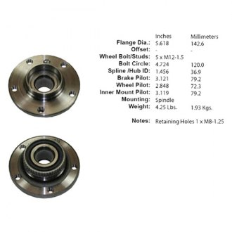 Centric® - C-TEK™ Front Wheel Bearing and Hub Assembly