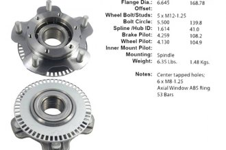Centric® 406.48000E - Non-Driven Front Wheel Bearing and Hub Assembly