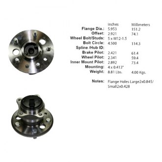 Centric® - C-TEK™ Rear Wheel Bearing and Hub Assembly