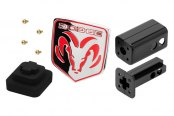 CEQUENT� - Dodge Ram Logo Tube Cover for 2 Receivers