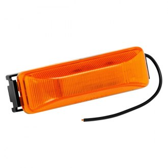 Bargman® - 38 Series Sealed Amber Clearance Light with Black Base and Wire Assembly