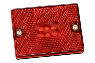 Bargman® - 42 Series LED Red Side Marker Clearance Light with Reflex, Stud Mount