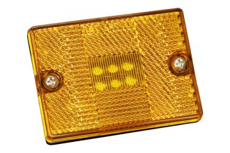 Bargman® - 42 Series LED Amber Side Marker Clearance Light with Reflex, Stud Mount