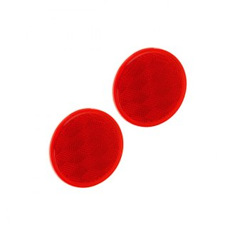 Bargman® - 3-3/16 Adhesive Mount Red Reflector with Adhesive Back