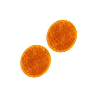 Bargman® - 3-3/16 Adhesive Mount Amber Reflector with Adhesive Back