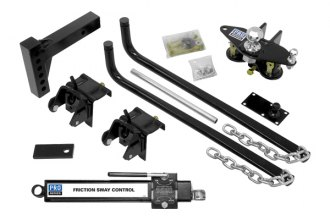 PRO SERIES® - Round Spring Bar Weight Distribution Kit with Hitch Ball - 10000 lb GTW / 550 lb TW