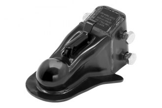PRO SERIES® - Less Channel Adjustable Black Coupler with Hardware (8000 lbs)