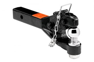 TOW READY® - Receiver Mount Black Pintle Hook (Hook Rating 12000 lbs / Ball Rating 2000 lbs)