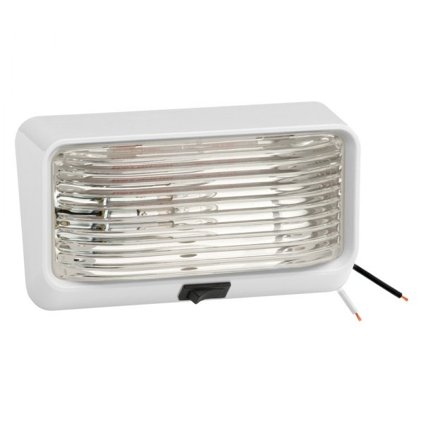 Bargman® - 78 Series Clear Porch Light with Ash White 5 Series Base and Switch