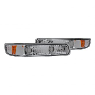 CG® - Chrome Euro Bumper Lights with Amber Reflectors
