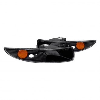 CG® - Black Euro Bumper Lights with Amber Reflectors