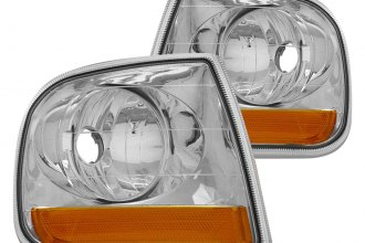 CG® - Chrome/Amber Euro Corner Lights with Amber Reflectors