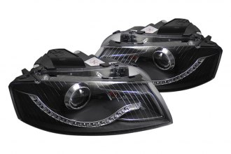 CG® - Black Projector Headlights with R8 LED Style