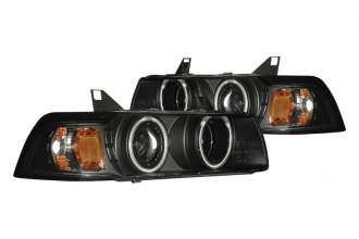 CG® 02-AZ-B392-PBC-4D-G2-RF-A - Black CCFL Halo Projector Headlights G2